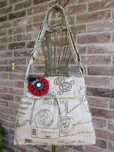 Sweet Pea Purse in Linen Beige and Brown
