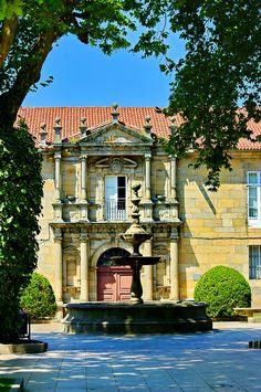"""""""Colegio de San Clemente"""", actual Instituto Rosalia de Castro, Santiago de Compostela (Spain)."""