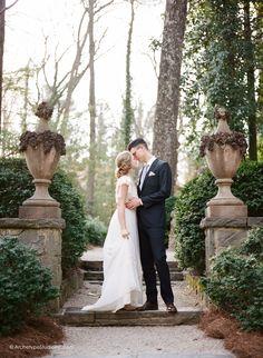 Photography: Koby & Elizabeth Brown, KobyBrown.com | Swan House in Atlanta, GA | Historic Venue Wedding | Vintage Lace Wedding Gown | Manor House | Estate House