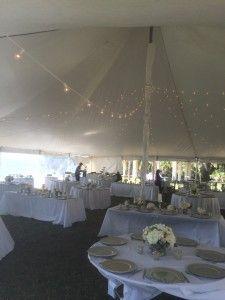 inside wedding Sarasota Tent Rental