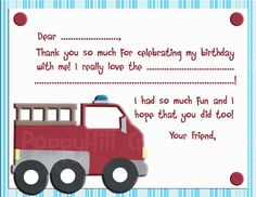 INSTANT DOWNLOAD   Printable Fire Truck by PoppyHillCreations, $5.00