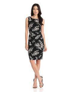 KAMALIKULTURE Women%27s Sleeveless Shirred Waist Dress