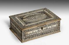 An Early 19th Century Vizagapatam bone Box. (c. 1810 England)