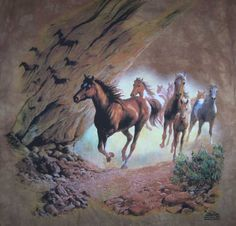 Sacred Passage Horses in Canyon Shirt