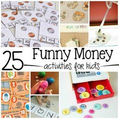 25 Fun Money Activities for Kids - New Site Middle School Science, Elementary Science, Preschool Printables, Preschool Activities, Money Activities, Math Resources, Kindergarten Art, Education Quotes For Teachers, Baby Shower