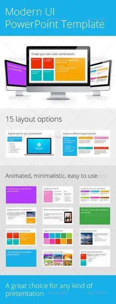 Modern UI PowerPoint Template