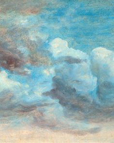 Cloud Study, by Lionel Constable. Repinned by sailorstales.wordpress.com
