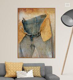 Jeansbroek aan de waslijn van Marga Marree