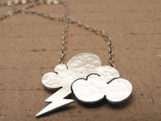 Lightning cloud necklace  Lightning necklace  by noyasilverjewelry, $40.00