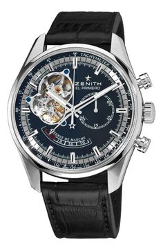 Men watches Zenith Men's 03.2080.4021/21.C496 Chronomaster Open Power Reserve Black Dial Watch