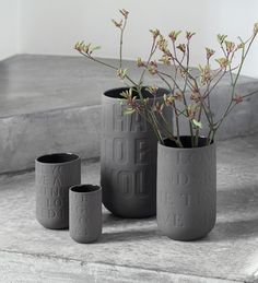 News from Kähler this spring: Love song vases in new colors. Love Song vases are designed by Jelena Schou Nordetoft and Ditte Reckweg. The beautiful vases 50 Shades Darker, Shades Of Grey, Bed In Living Room, Home And Living, Urn Vase, Vases, Grey Home Decor, Modern Ceramics, Elegant