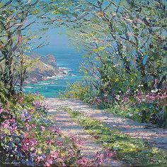 Rex Preston and Mark Preston - Artists Paintings I Love, Beautiful Paintings, Beautiful Landscapes, Watercolor Paintings, Preston, Landscape Artwork, European Paintings, Pictures To Paint, Strand
