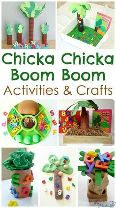 Chicka Chicka Boom Boom Activities, Crafts, and More! chicka chicka boom activities for preschool Preschool Books, Preschool Lessons, Preschool Classroom, Preschool Learning, Classroom Activities, Preschool Activities, Preschool Letters, Learning Letters, Classroom Ideas