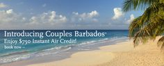 $750 Instant Air Credit Per Couple at Couples Resorts - @CouplesResorts #travel