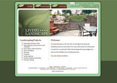 Living Landscapes: Multiple Tones of Green, Logo Used Throughout Design Elements