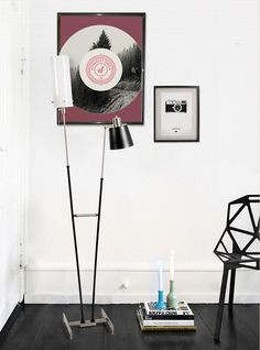 The corner of your Living room ideas can be adorable like this with the super modern Pastorius floor lamp.