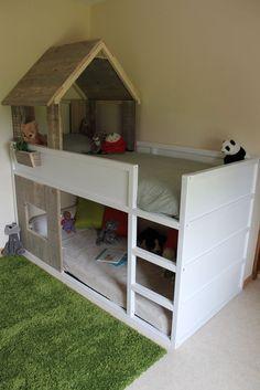 Lit cabane KURA simple à réaliser #cabane #ikea #KURA #lit