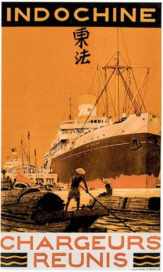 New item in my etsy shopChargeur Reunis vintage shipping company poster reproduction by PanchromaticaDesigns. Find it here http://ift.tt/1VosqCH