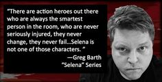 Greg Barth. http://www.blogtalkradio.com/authorsontheair/2016/11/17/greg-barth-discusses-selena-road-carnage-on-authors-on-the-air-live