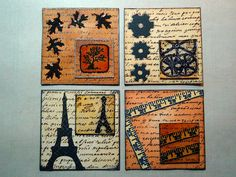 Twinchie with an Inchie by iGirlZoe, via Flickr Domino Art, Art Tiles, Rolodex, Atc Cards, Dyi Crafts, Mini Canvas, Pocket Letters, Artist Trading Cards, African American History