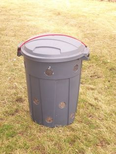 We have a trash can missing the wheels.  Might be a great way to recycle.