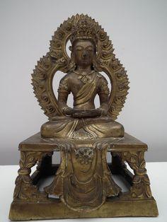 chinese bronze buddha chinese amitayus chinese buddha amitabha Chinese Buddha, Buddhism, Lion Sculpture, Bronze, Statue, Antiques, Vintage, Art, Antiquities
