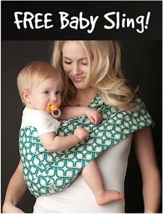FREE Pretty Baby Sling!  {just pay s/h} ~ these make great baby shower gifts, too! #babies #thefrugalgirls