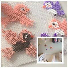 #hama #hamaperler #hamapearls #pearl #perler #fugle #birds #pink powder #purple #mobile #nursery #nurserydecor #nurseryinspo #changingtable #pusleplads #pusle #donebydeer #housedoctor #basket #decorator #decor #decoration #diy #diye #krea #crea #børneværelse #babyroom #kidsroom #diy #diyguide #diye #crea #krea by finesse_tinaschr