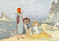 """Jessie M. King, """"The Sea Voices"""", illustration for """"Seven Happy Days"""", detail"""