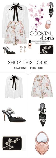 """""""Aren't they darling?"""" by naki14 ❤ liked on Polyvore featuring Marc Jacobs, Zimmermann, Manolo Blahnik, Kate Spade, H&M, Too Faced Cosmetics and Miu Miu"""