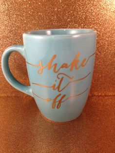 Shake It Off Mug Taylor Swift Coffee Tea by withlovelouise