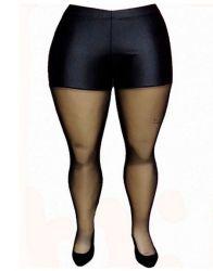 www.tamanhosespeciais.com.br Meia Calça Modeladora Lycra Fina Tule Plus Size 46 48 50 52 54 56