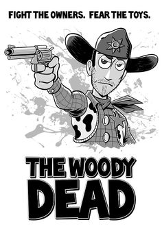 'The Woody Dead' by Andrew Jones Andrew Jones, Woody, V Neck T Shirt, Classic T Shirts, Iphone Cases, Etsy, Iphone Case, Woody Allen Quotes, I Phone Cases