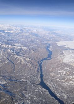 The Columbia River Valley in Eastern Washington State, with the City of Wenatchee at the bottom, February, 2012