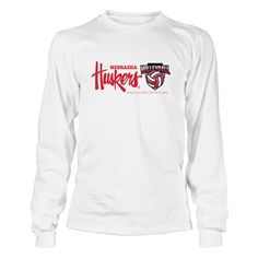 University Nebraska Volleyball - With Each Other, For Each Other T-Shirt, *Officially Licensed University Nebraska Volleyball clothing and apparel *  Witness some of the best women's college volleyball in the country with the Nebraska Lady Huskers Volleyball team. Husker volleyball is almost fanatical in Big Red country with good reason. The Lady Huskers rule the floor... The Nebraska Cornhuskers Collection, OFFICIAL MERCHANDISE  Available Products:          Gildan Long-Sleeve T-Shirt…