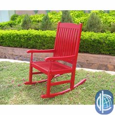 Add an antiqued look to your porch or patio with this attractive rocking chair. Available in white or black with oak accents or in a bold red color, the solid acacia hardwood has a gently distressed look to provide an antique appearance.