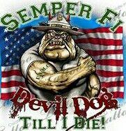 Patriotic Images, Once A Marine, Military Tattoos, British Bulldog, Us Marine Corps, Us Marines, Usmc, Blue Wedding, Wedding Band