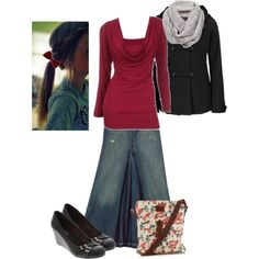"""Burgundy"" by samanthahac on Polyvore"