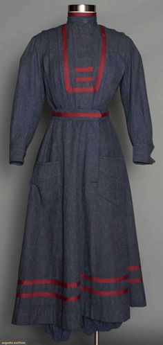 Lady's Sport Or Gym Costume: bodice, skirt & bloomers of blue brushed cotton, Early 20th C, Augusta Auctions