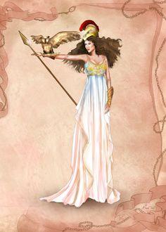 Greek Goddess Athena by BasakTinli.deviantart.com on @DeviantArt