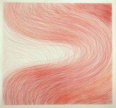"Cintia Garcia; Drawing, ""Curva Roja."""