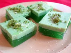 Jell-O Layered Margarita Bites -- boiling water, margarita flavor Jello, tequila, lime, cool whip. (Also, directions to substitute the margarita jello in case you can't find it in the store)