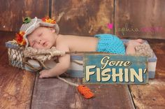 Baby Boy Fishing Hat   Fish  &  shorts SET Newborn by lilianda, $46.99