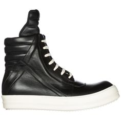 72d9104e8405 RICK OWENS MEN S SHOES HIGH TOP LEATHER TRAINERS SNEAKERS NEW BLACK 0AC  (eBay Link)