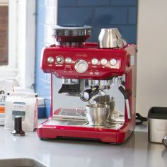 Breville Espresso Machine In Red from Whole Latte Love.