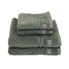 Premium Terry Towel, Agave Green - Gant Home @ RoyalDesign.no Towel, Villa, Mood, Fork, Villas