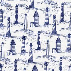 Timeless Treasures House Designer - Seaside - Lighthouses in White
