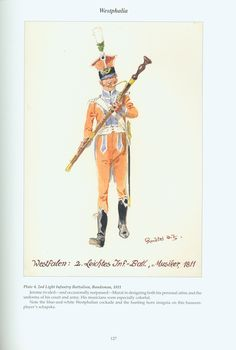 The Confederation of the Rhine - Westphalia: Plate 4. 2nd Light Infantry Battalion, Bandsman, 1811