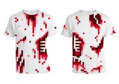 8-bit tee shirts by Luke Morgan, via Behance