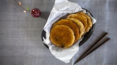 Hotteok - sweet Korean pancakes filled with brown sugar and nuts! - CookingWithAlia Episode 377